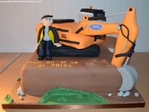 Friel Construction Cake