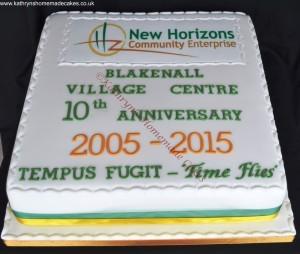 10th Anniversary Cake for Blakenall Village Centre