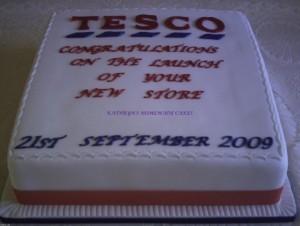 Tesco store opening cake